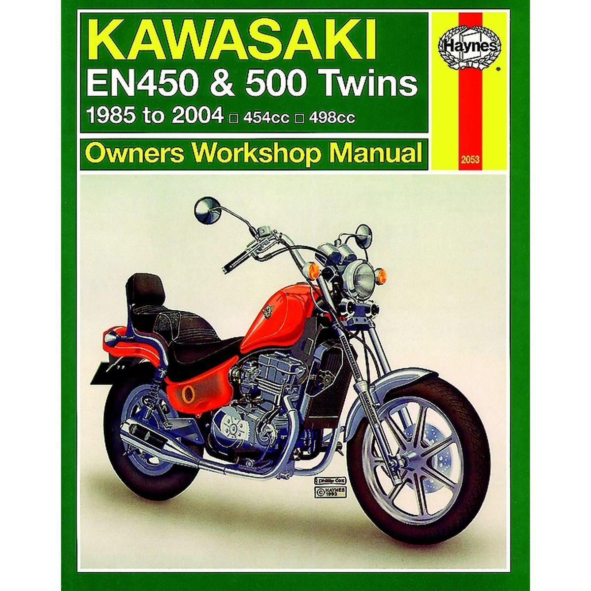 aw motorcycle parts haynes manual 2053 kaw en450 500. Black Bedroom Furniture Sets. Home Design Ideas