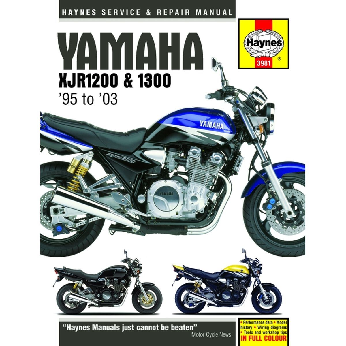 aw motorcycle parts haynes manual 3981 yam xjr1200 1300 95 03 picture of haynes manual 3981 yam xjr1200 1300