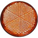 Picture of Reflector Orange Round Stick-on Black Rim O.D 60mm