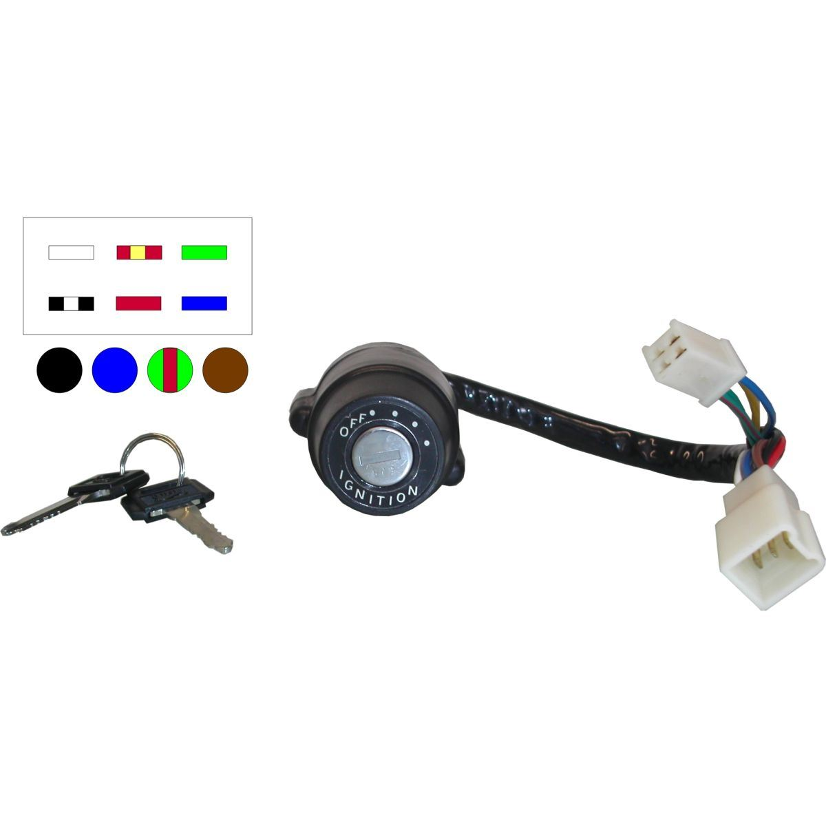 aw motorcycle parts ignition switch yamaha rs100 rs125 10 wires picture of ignition switch yamaha rs100 rs125 10 wires