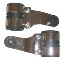 Picture of Headlight Brackets Chrome Deluxe to fit forks 26mm to 37mm (Pair)