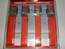 Picture of 25M X 2M 4 PIECE CARGO LASH RACHET STRAPS