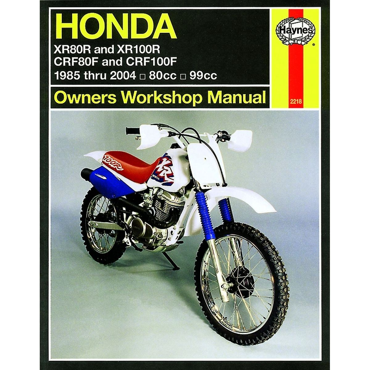 AW Motorcycle Parts. Haynes Manual 2218 HON XR80R & XR100R