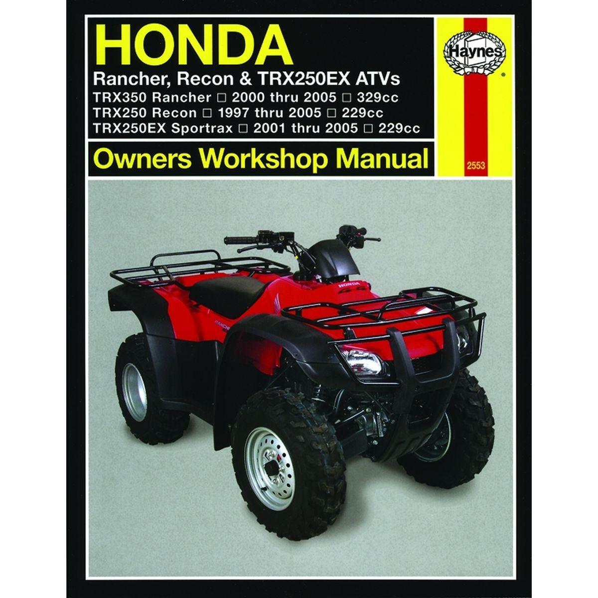 Aw Motorcycle Parts  Haynes Manual 2553 Hon Atv T9811