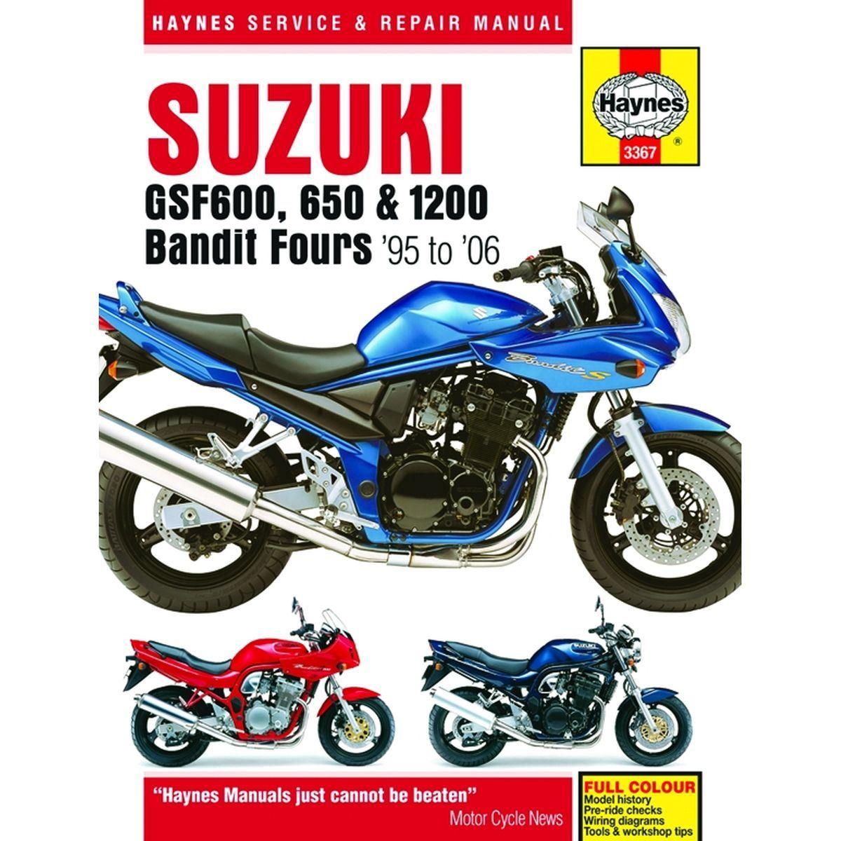 Aw Motorcycle Parts  Haynes Manual 3367 Suzuki Gsf600 650