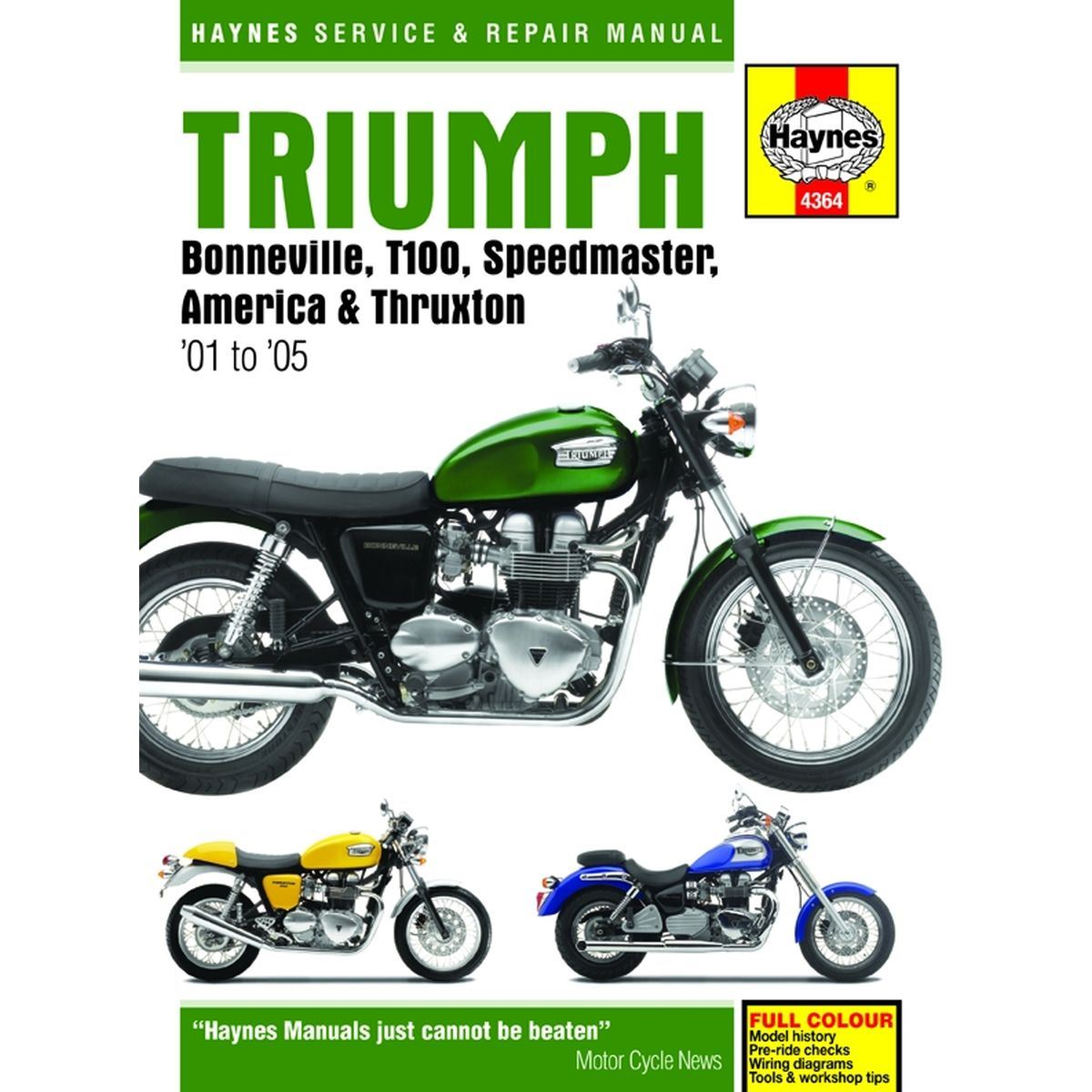 Aw Motorcycle Parts Haynes Manual 4364 Triumph Bonniet100speed Wiring Diagram Picture Of Bonniet100speedthrux 01 12