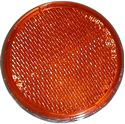 Picture of Reflector Orange Round Bolt-on Chrome Rim O.D 60mm E-Marked