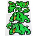 Picture of Stickers Green Bull Dog, 2 Large 2 Medium & 3 Small