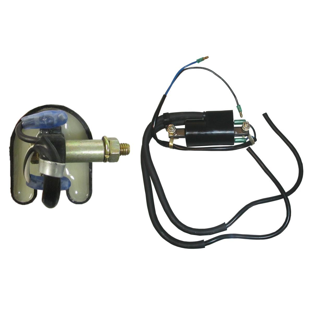 Aw Motorcycle Parts Ignition Coil 6v Points Twin Lead 2 Wires 100mm Honda 125 Wiring Picture Of