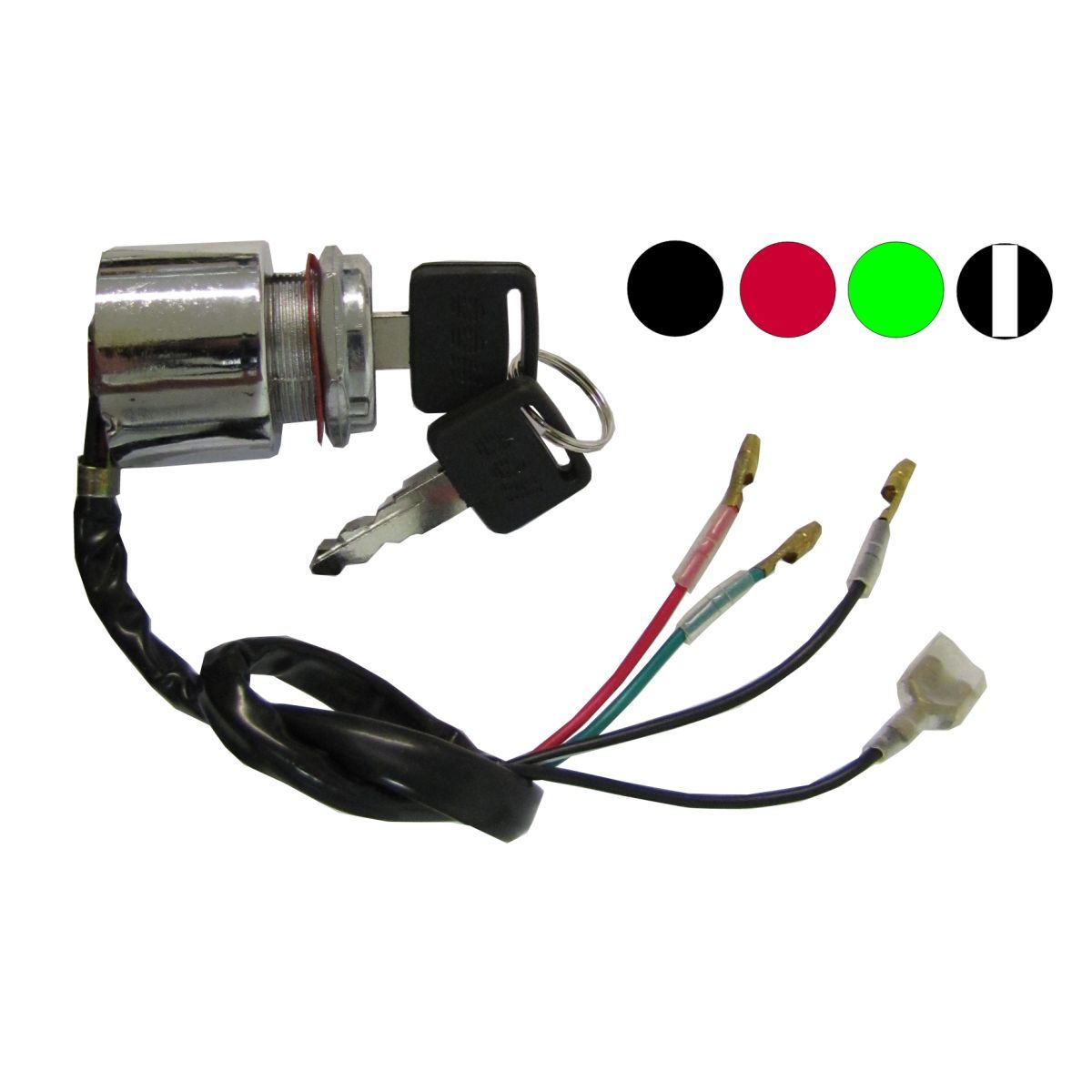 Aw Motorcycle Parts  Ignition Switch Universal 4 Wire Held