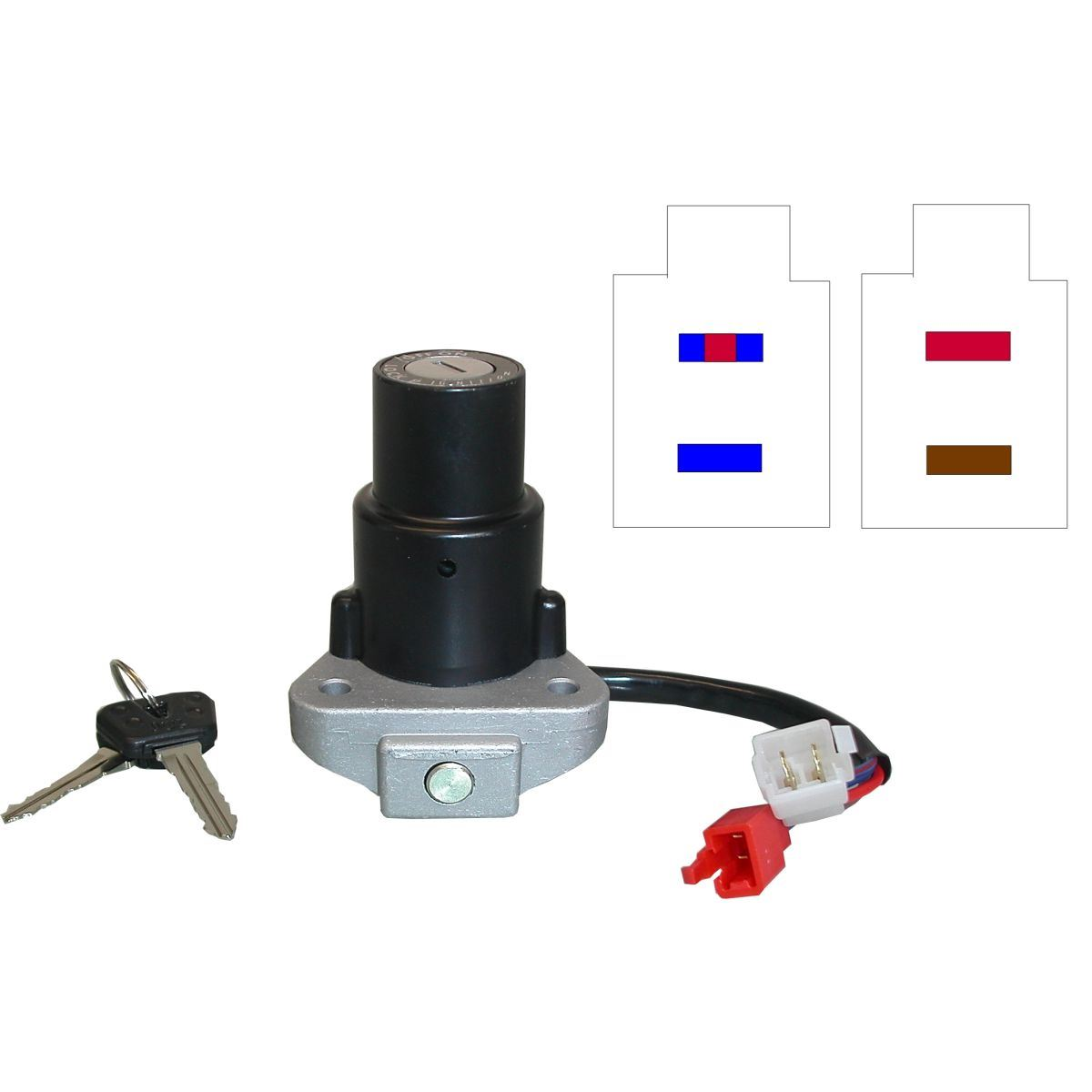 Aw Motorcycle Parts Ignition Switch Yamaha Xv750 Xv1000 Xv1100 4 Wire Wiring Picture Of Wires