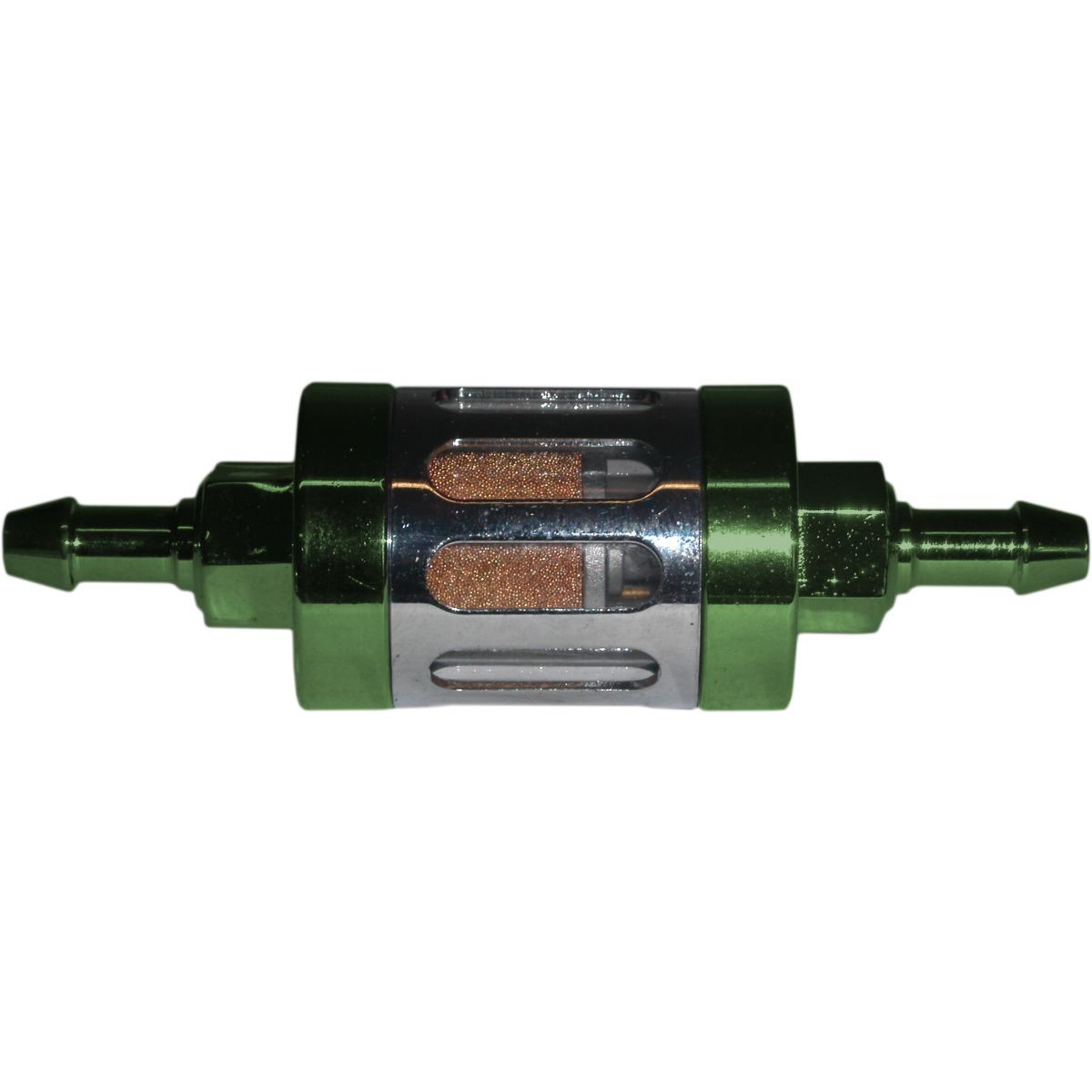 Aw Motorcycle Parts Fuel Filter 6mm Anodised Aluminium Green Glass Picture Of Centre