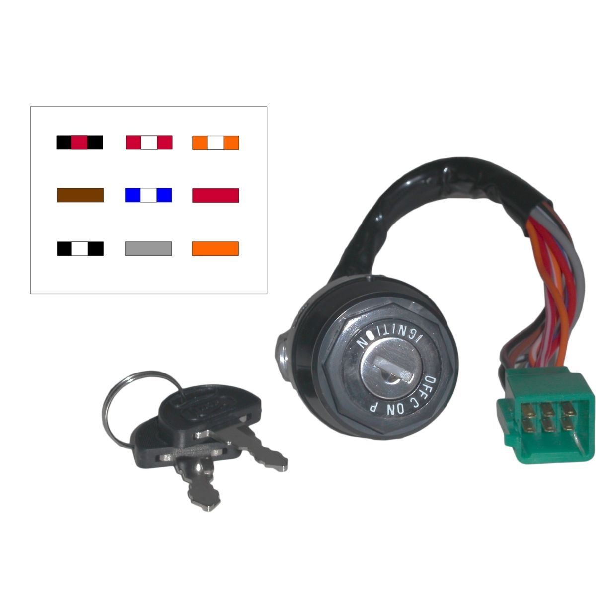 Aw Motorcycle Parts  Ignition Switch Suzuki Ts50x 9 Wires