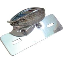 Picture of Complete Taillight Small Cateye with LED, Clear Lens & Brkt