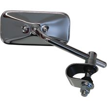 """Picture of Mirror Chrome Rectangle Left or Right Clamp-on 2"""" x 4.25"""""""